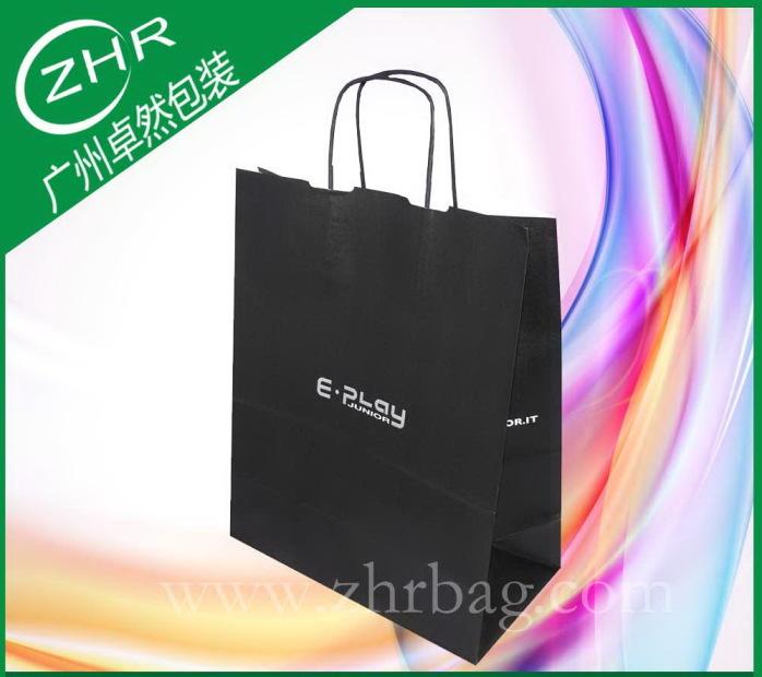 专业定制手提白牛皮纸袋 四色印刷 电商包装袋38598082