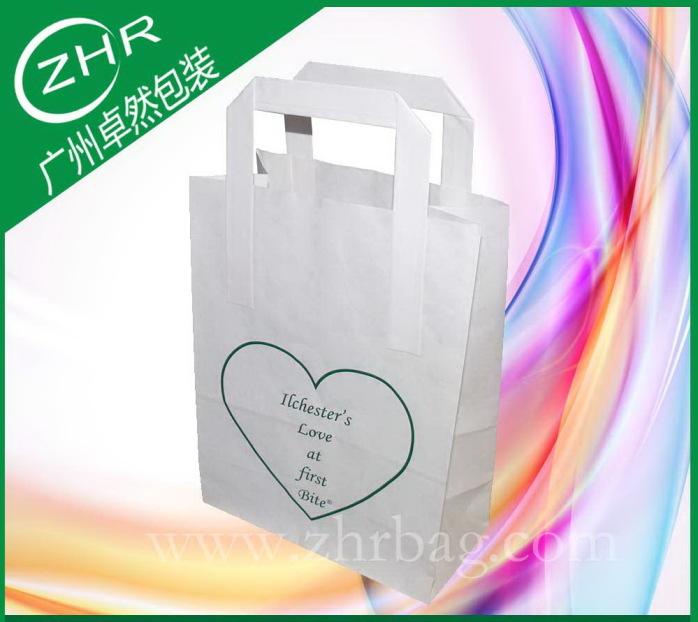 专业定制手提白牛皮纸袋 四色印刷 电商包装袋38598102