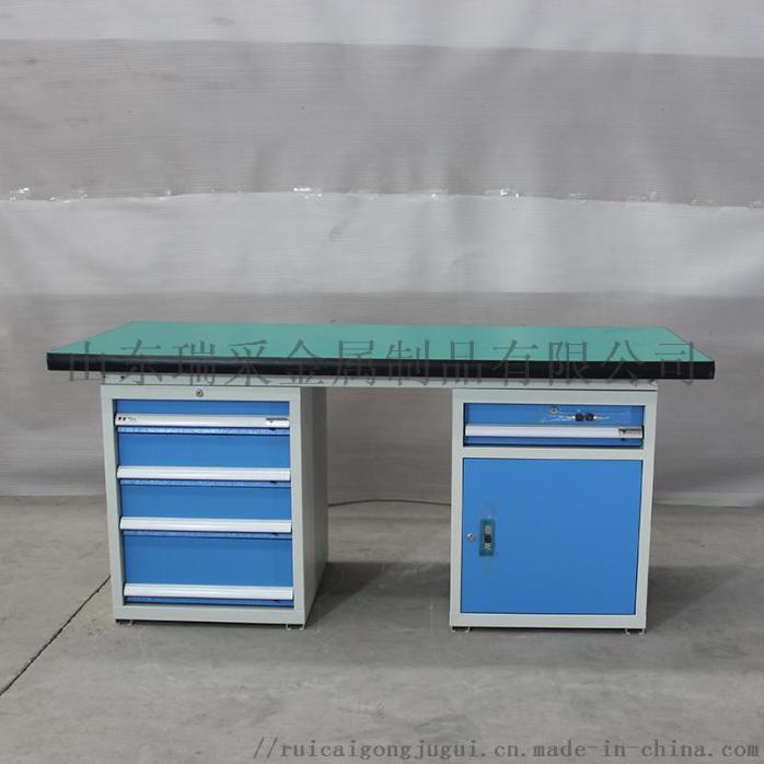 HDA15040 左边四抽屉工具柜右边一抽单开门 防静电工作桌 (2).JPG