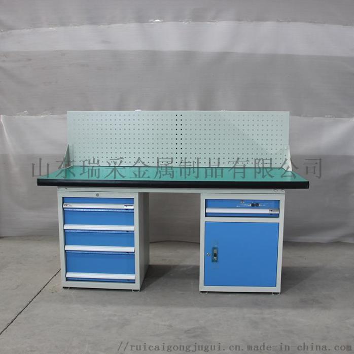 HDA15140 左边四抽屉工具柜右边一抽单开门 防静电工作桌.JPG