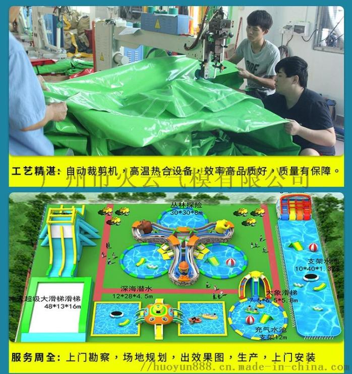 大型水上樂園設備廠家兒童動漫水世界充氣闖關衝關游泳池戶外玩具121202535
