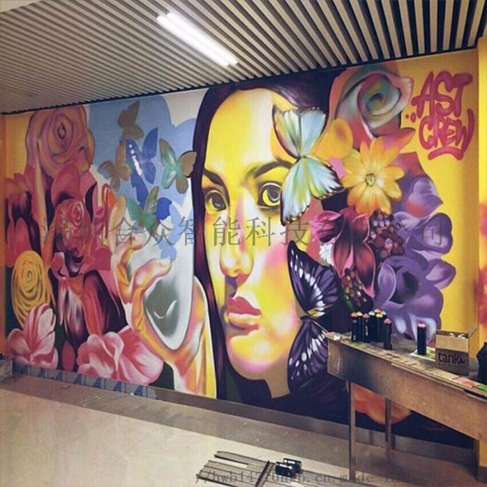 自动3d墙体彩绘机智能打印立体背景墙美画机119138835