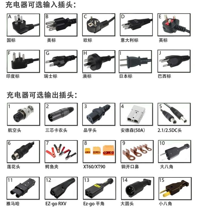 12V100AH电动升高机堆垛车充电器12V20A121145255
