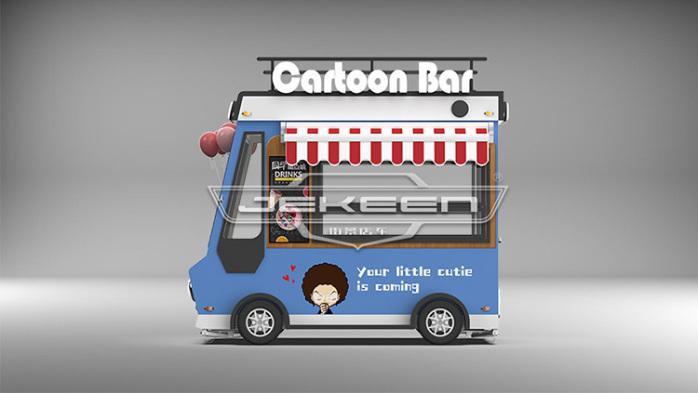 街景店车流动售货车街边摆摊车移动小吃车餐车123269545