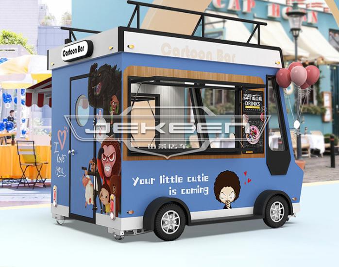 街景店车流动售货车街边摆摊车移动小吃车餐车123269575