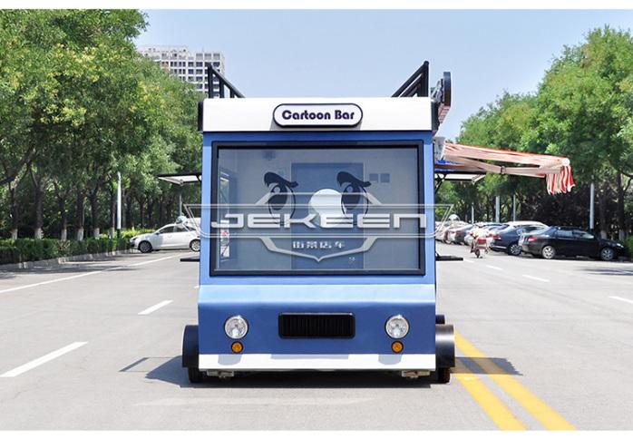 街景店车流动售货车街边摆摊车移动小吃车餐车123269625