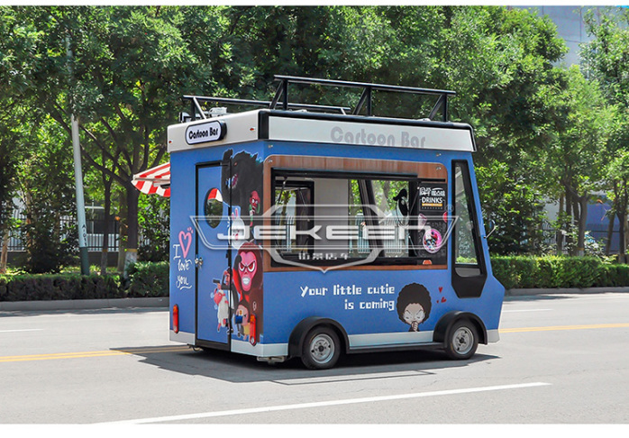 街景店车流动售货车街边摆摊车移动小吃车餐车123269635