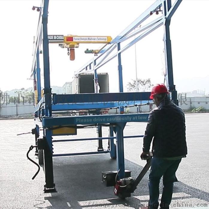 有了集裝箱裝卸機 裝卸布料工人對這愛不惜手860593575