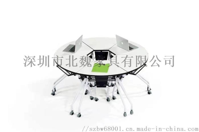 培训班折叠桌椅-员工折叠培训桌椅-可移动培训桌椅123205495