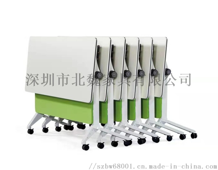 广东PXZ学校梯形拼接六边形创意带轮培训桌椅126941365