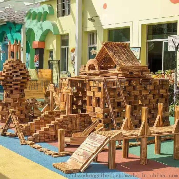 幼儿园户外碳化积木 儿童木质积木玩具厂家860707622