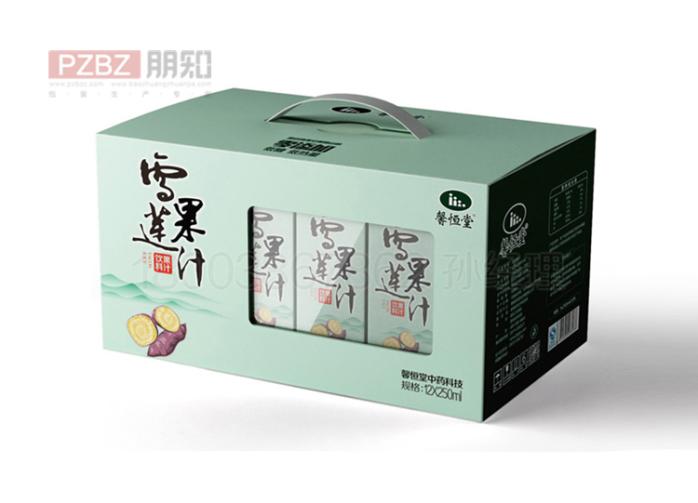 果汁饮料手提纸箱
