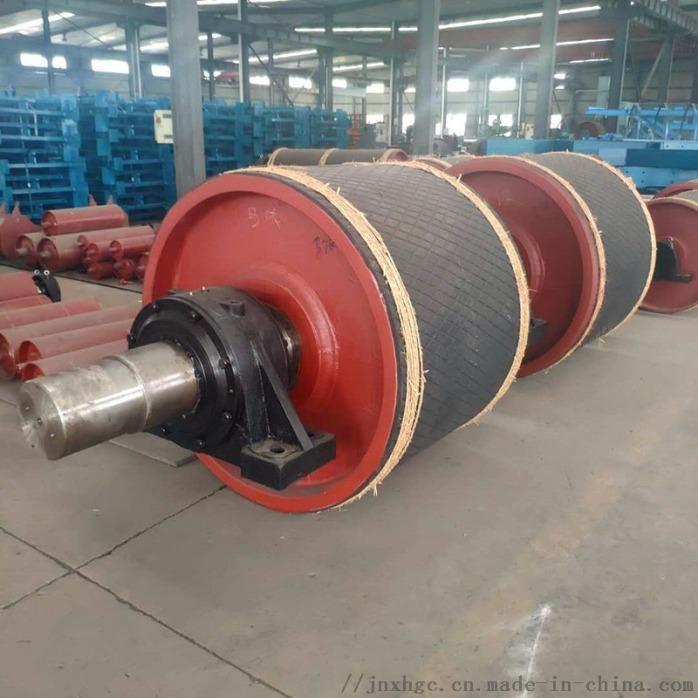 630聚氨酯拉紧改向滚筒 山东厂家带瓦架改向滚筒861785562