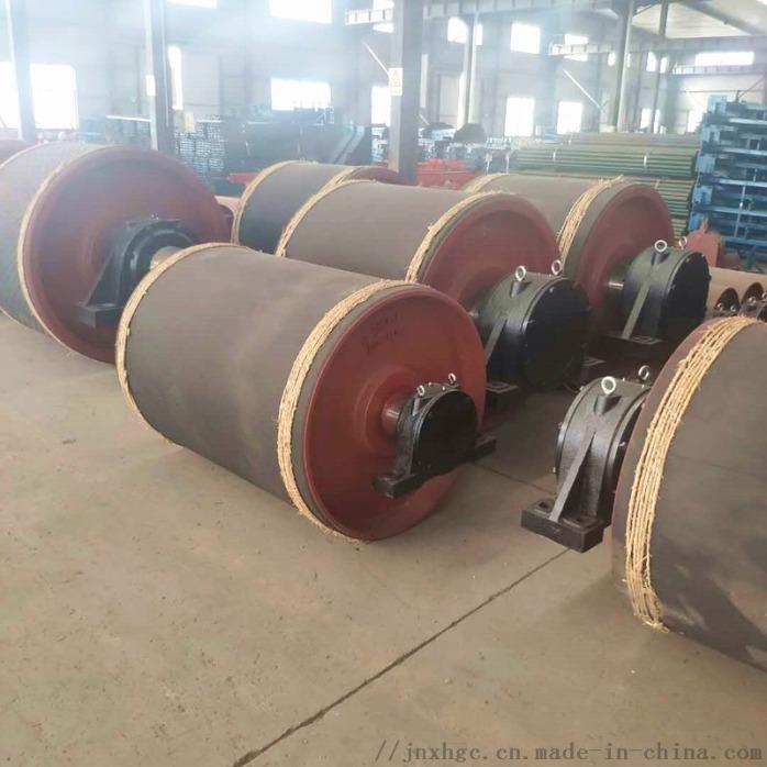 630聚氨酯拉紧改向滚筒 山东厂家带瓦架改向滚筒861785552