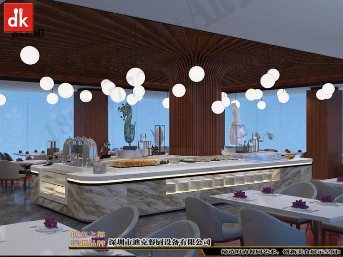 迪克自助餐台艺术餐台展示台设计 缅甸自助餐厅自餐台效果图 (3).jpg