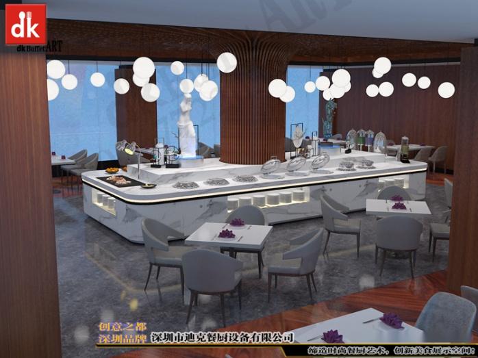 迪克自助餐台艺术餐台展示台设计 缅甸自助餐厅自餐台效果图 (4).jpg