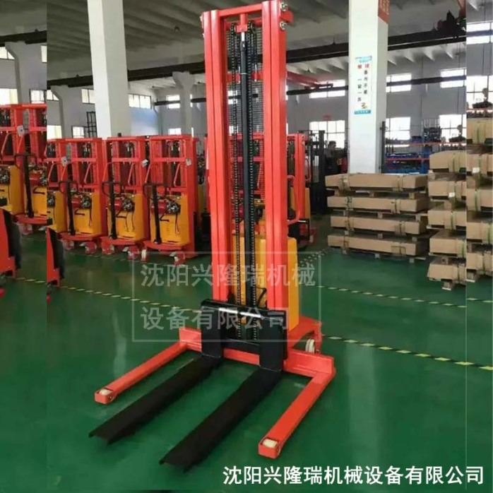 延边半电动堆高叉车厂家,加力电动小叉车-沈阳兴隆瑞