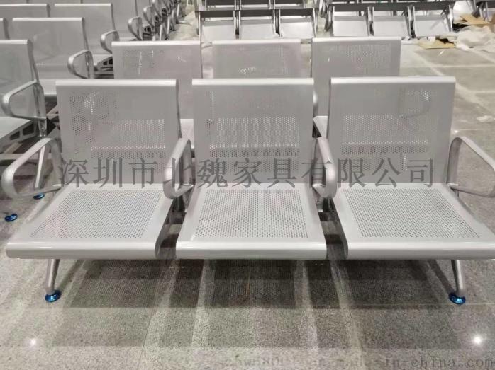 公共大廳等候椅-大廳連排椅-大廳公共區鋼製連排椅-不鏽鋼等候大廳排椅130836915