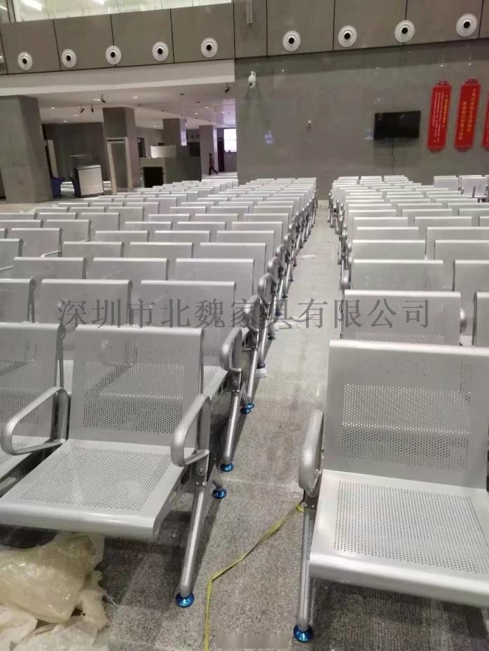 公共大廳等候椅-大廳連排椅-大廳公共區鋼製連排椅-不鏽鋼等候大廳排椅130836925