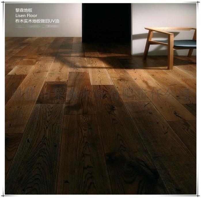 橡木实木复合地板平板拉丝复古UV漆102600025