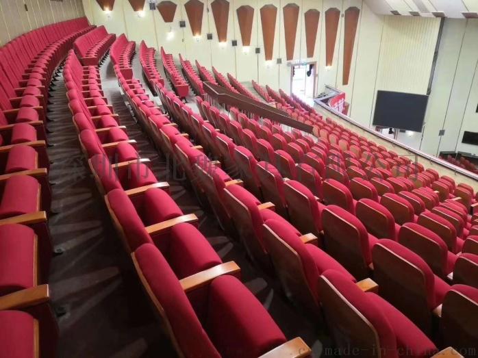 报告厅座椅-实木外壳礼堂椅-带写字板礼堂椅136001575