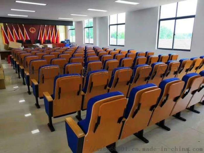 报告厅座椅-实木外壳礼堂椅-带写字板礼堂椅136001525
