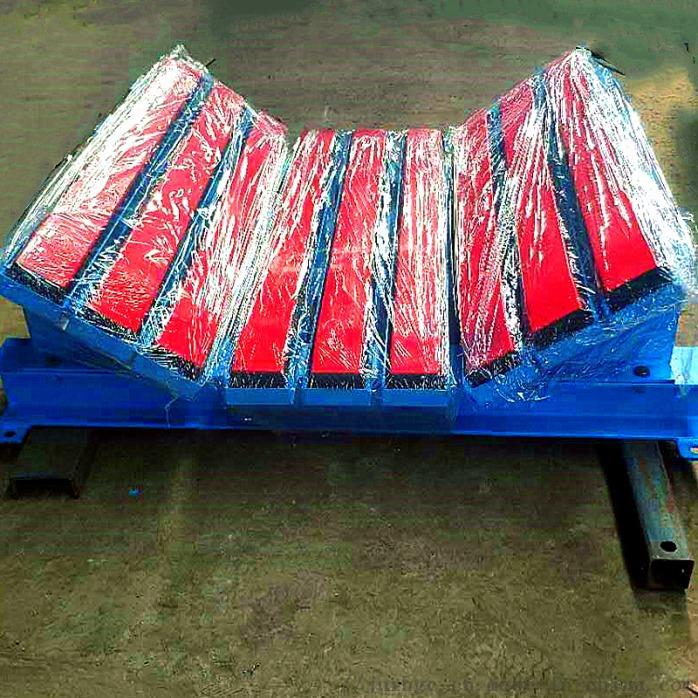 水泥皮带机新型防撒料缓冲床 抗冲击高弹聚乙烯缓冲床131815962