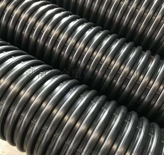 湖南豪企HDPE双壁波纹管塑料排污管  原因910455235