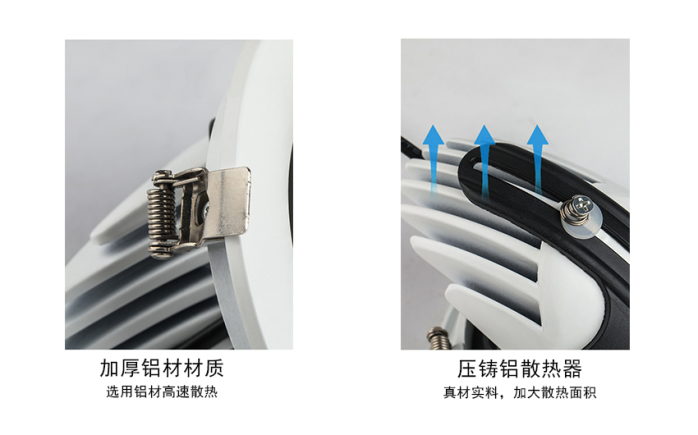 LED天花射燈 嵌入式拉伸象鼻燈 服裝射燈140892515