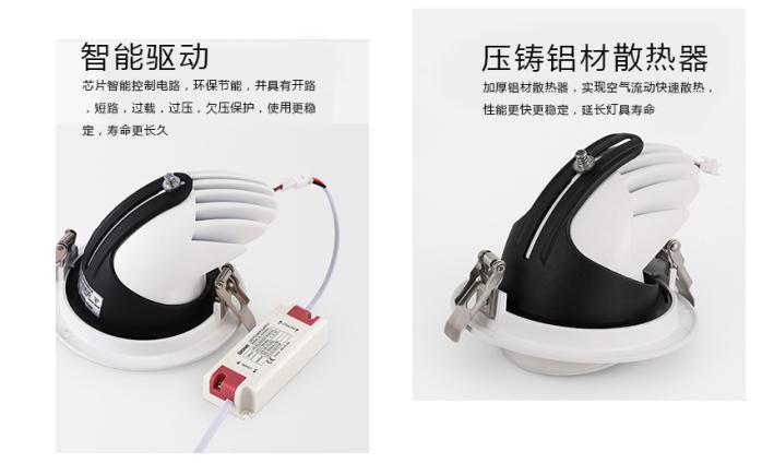 35W LED象鼻灯 大功率天花灯 酒店射灯140899745