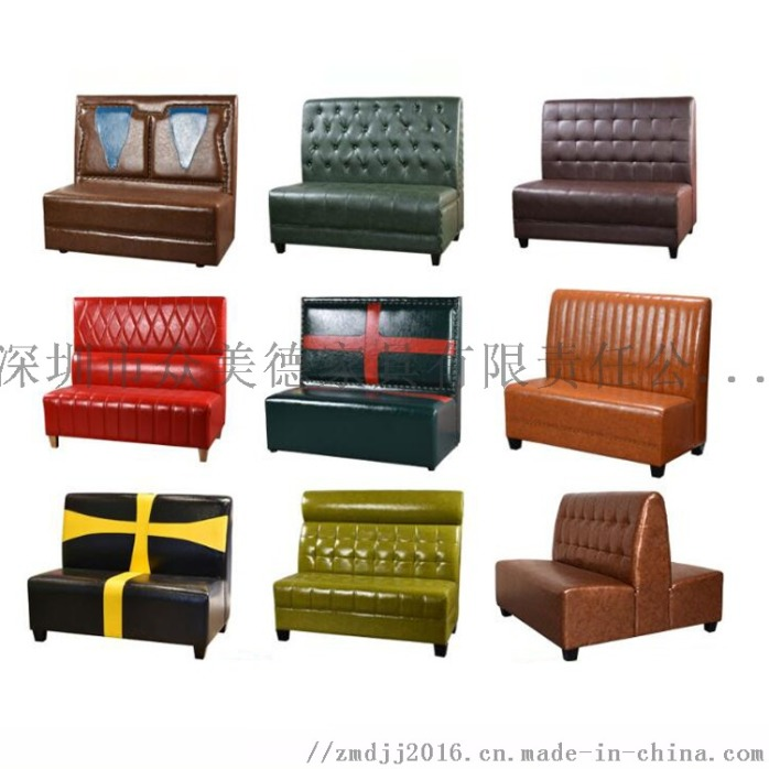 港式茶餐廳卡座沙發,訂製卡位梳化,防火皮革沙發家具922552635