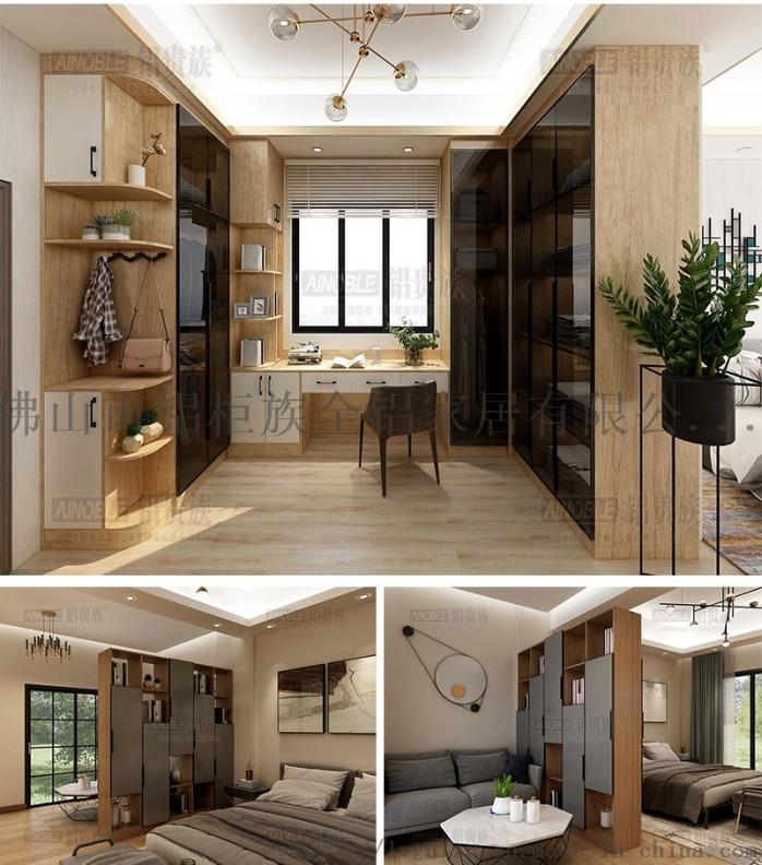 铝  全铝家居定制,衣柜橱柜酒柜收纳柜玄关柜等143099535