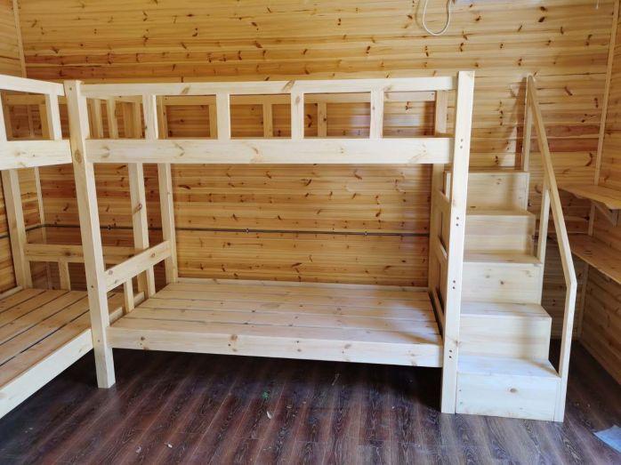 厂家直销现代简约实木高低床公寓床铁艺床933229985