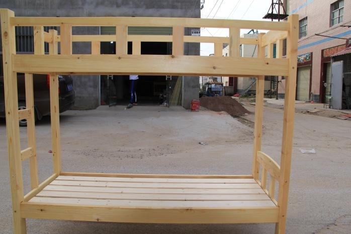 厂家直销现代简约实木高低床公寓床铁艺床146294615