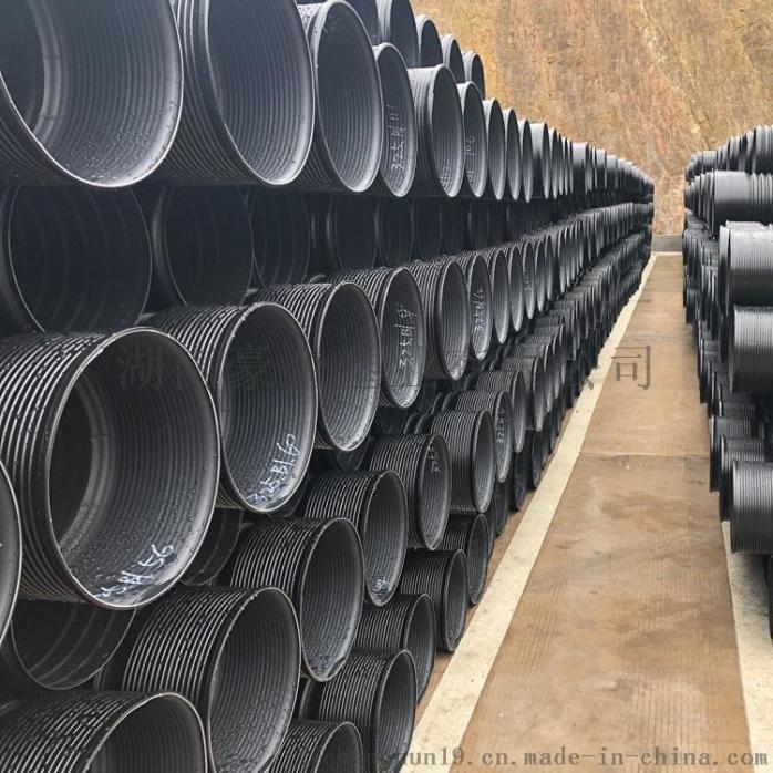 湖南HDPE双壁波纹管塑料管排污管dn500厂价930937005