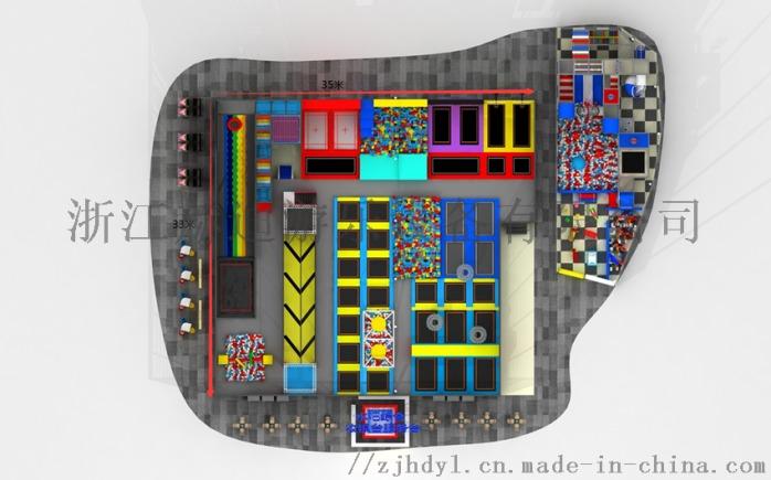 室内蹦床 网红蹦床公园 室内主题蹦床公园146300555
