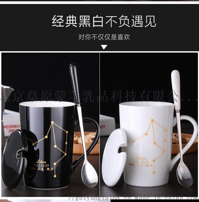 陶瓷马克杯带盖勺个性潮流喝水杯家用咖啡杯男女茶杯946350315