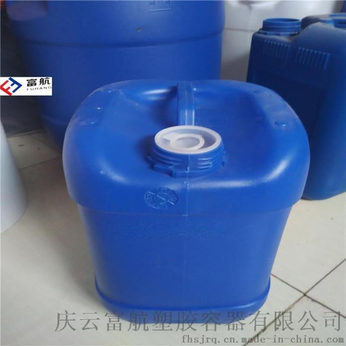 藍色10升堆碼塑料桶 10kg方形化工桶742798502
