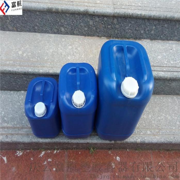 藍色10升堆碼塑料桶 10kg方形化工桶742798482