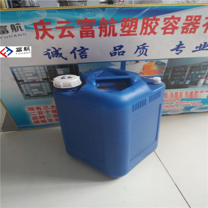 藍色10升堆碼塑料桶 10kg方形化工桶42600492