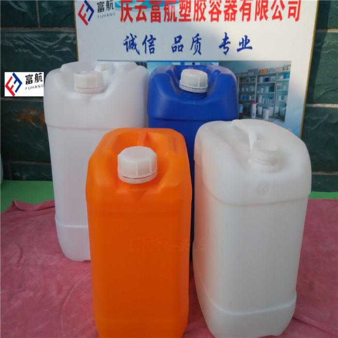 藍色10升堆碼塑料桶 10kg方形化工桶42600452