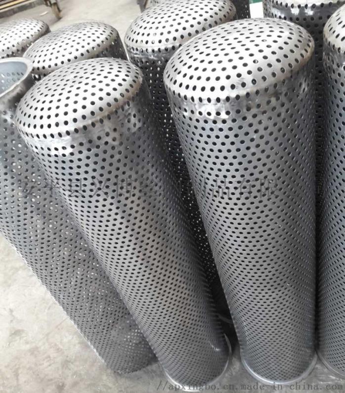 安平兴博定制不锈钢滤芯骨架 不锈钢冲孔过滤筒58076352