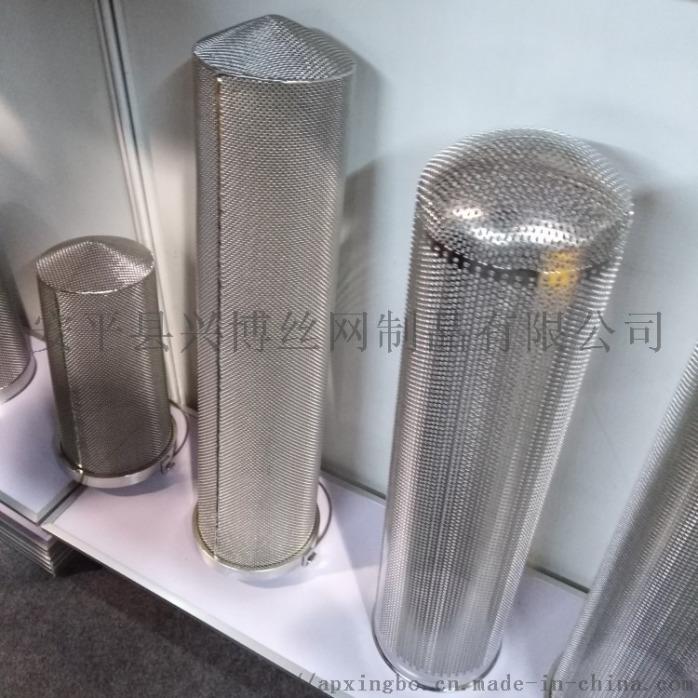 安平兴博定制不锈钢滤芯骨架 不锈钢冲孔过滤筒58076542