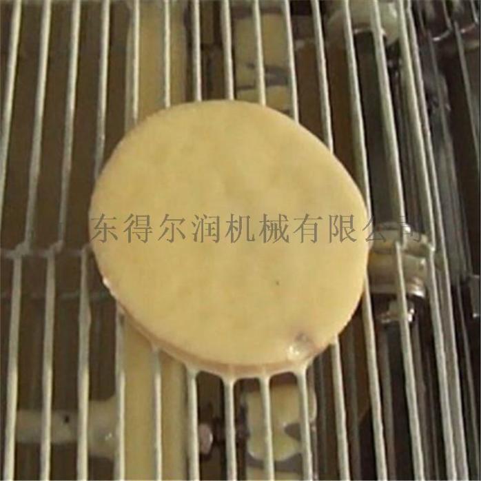 速冻莲藕猪肉盒加工设备 藕盒裹粉上浆机 藕盒油炸机59063712
