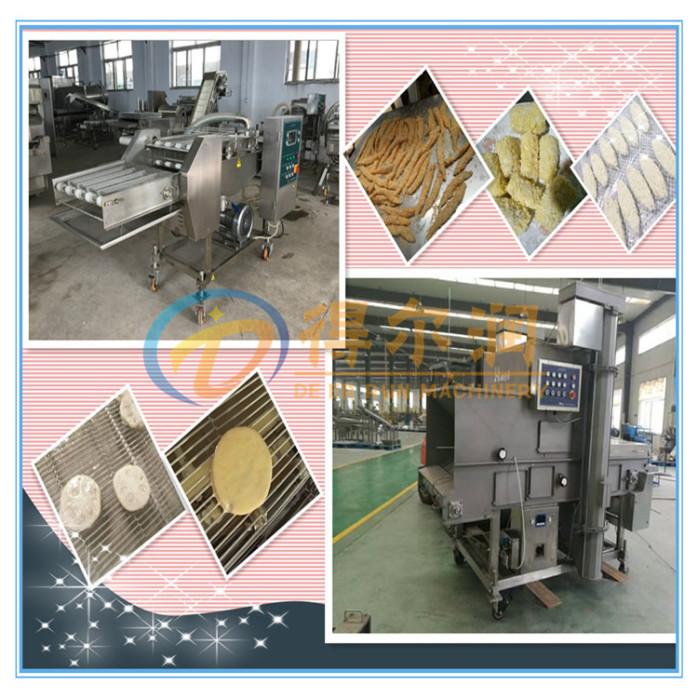 河南A黏酪条上浆裹糠机设备 自动年糕奶酪裹浆机设备52835012