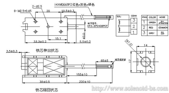 广东针织机器电磁铁 BS-0735N-0360014725