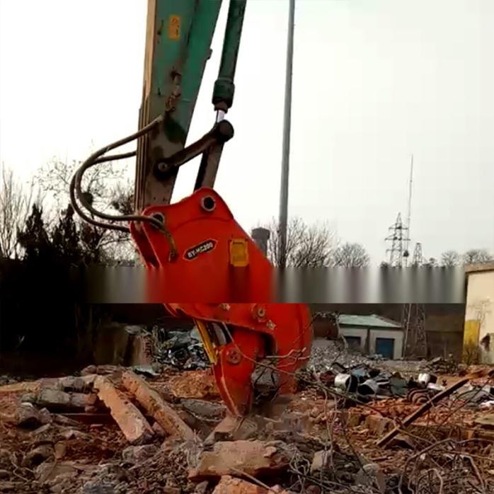 大型拆除液压钳、挖掘机液压粉碎钳、粉碎混凝土方法772195315