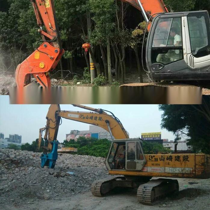 大型拆除液压钳、挖掘机液压粉碎钳、粉碎混凝土方法772195305