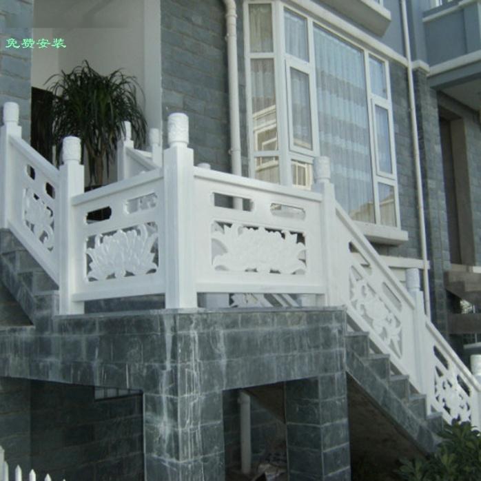 大桥石栏杆石雕栏板 大理石栏杆河道景区广场石头护栏770284612