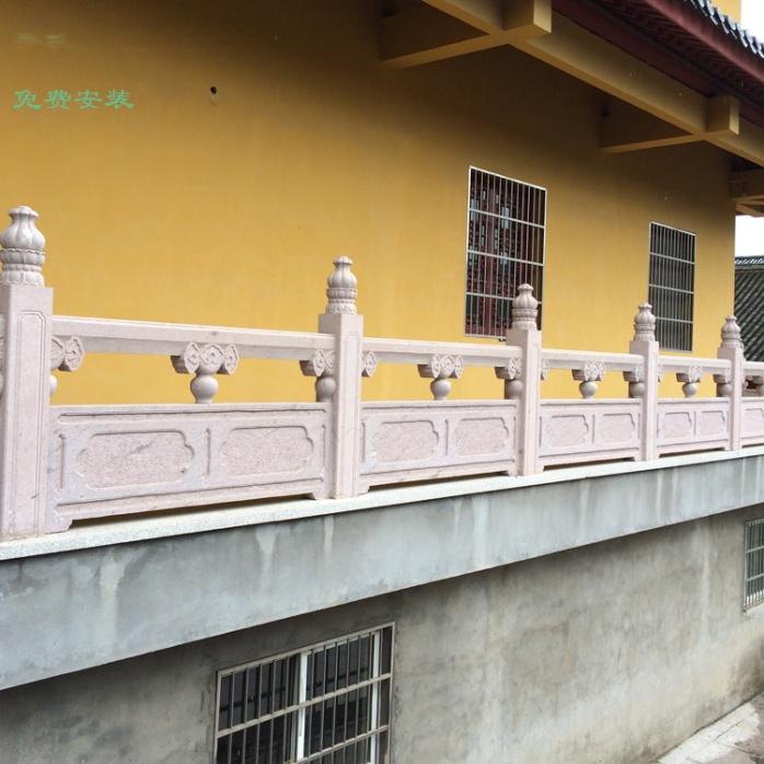大桥石栏杆石雕栏板 大理石栏杆河道景区广场石头护栏770284602